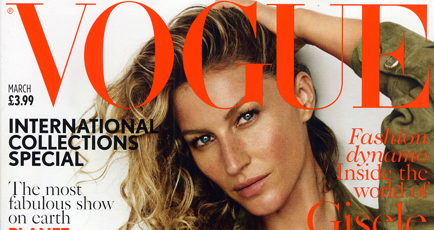 HANDS OF OIZO featured in VOGUE UK March 2015 issue - Gisele Bündchen on Cover