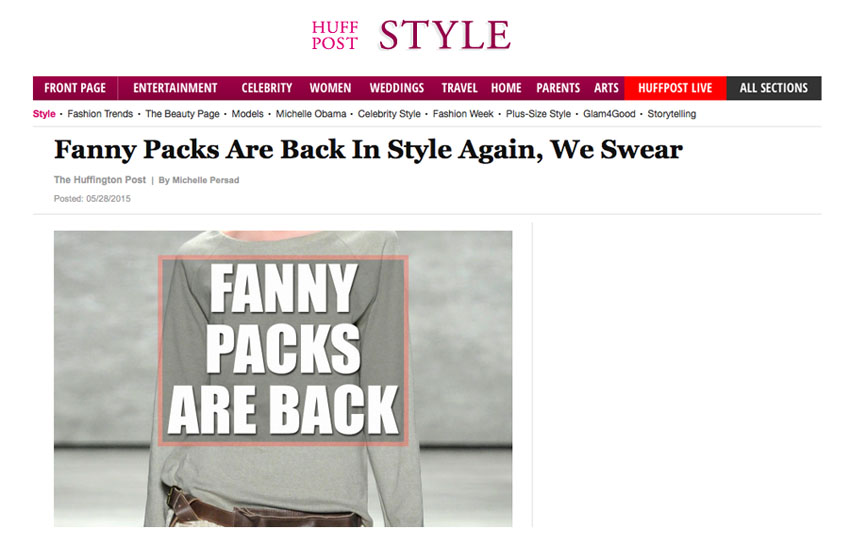 Fanny Packs Back in Style - The Huffington Post - Fashion trend 2015